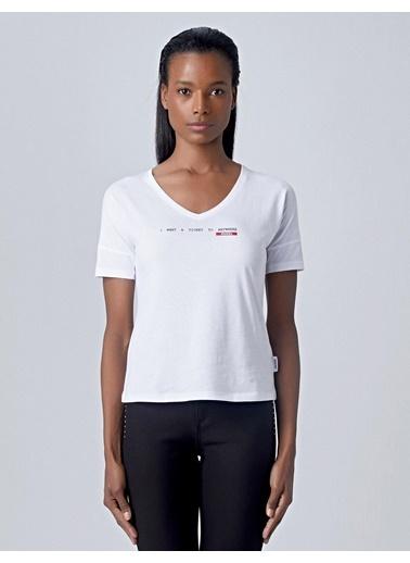 Huxel Tişört Beyaz